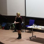 Me reading at Bolton Libraries